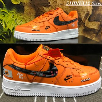 NIKE AIR FORCE 1 AF1 x JUST DO IT Low Cup Causal Skate Shoes Orange