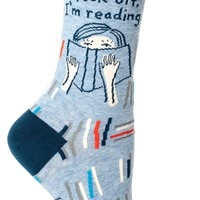 Fuck Off I'm Reading Women's Crew Socks