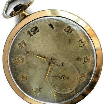 Vintage Military Omega Gold Plated  Pocket Watch Since1937