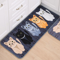 Cat Printed Kitchen Mats