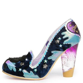 DCCKLP2 Irregular Choice Stars At Night Women's Navy Heels