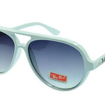 Ray Ban Cats 5000 Classic RB4125 Blue White Sunglasses