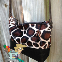 Giraffe Print Purse Handbag