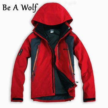 Be A Wolf 2 in 1 Hiking Jackets Softshell Men Outdoor Fishing Clothes Climbing Camping Skiing Windbreaker Waterproof Jacket 601