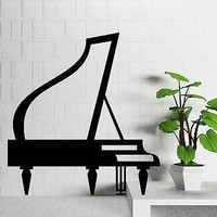 Wall Stickers Vinyl Decal Piano Concert Piano Music Room Art Decor Unique Gift (n076)