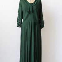 vintage 1930s hunter green lace sleeves dress [Forest of Arden Dress] - $228.00 : ADORED | VINTAGE, Vintage Clothing Online Store