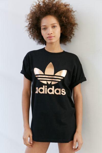 adidas t shirt rose gold
