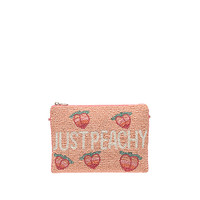 From St Xavier Peachy Clutch in Peach