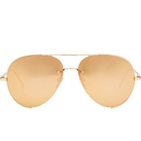 Mirrored Aviator Sunglasses - Linda Farrow | WOMEN | US STYLEBOP.COM