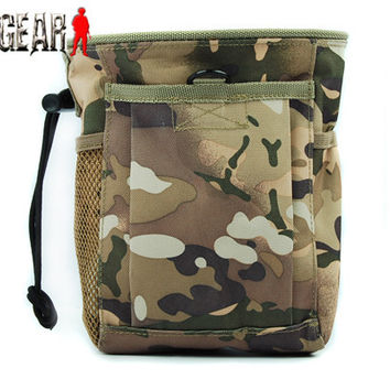 Tactical Molle Pouch Magazine DUMP Drop Pouch Small Size Outdoor Hunting Paintball Wargame Air Gun Pistol Rifles Holster Bag