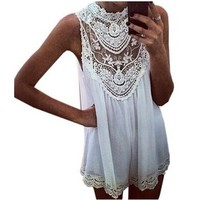 ZANZEA Women's Celeb Lace Chiffon Party Evening Summer Ladies Short Beach Dress