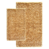 Chesapeake 2-Piece Barbados Shag Accent 21-Inch by 34-Inch and 27-Inch and 42-Inch Rug Set, Linen