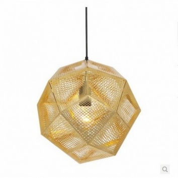 Euro modern consise art creative bar restaurant retro industrial wire net ball pendant lamp light