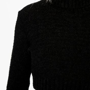 Nicole Boucle Roll Neck Crop Jumper | Boohoo