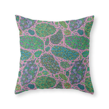 Society6 Nugs In Color Throw Pillow