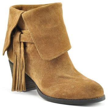 Sbicca Cairenn Tan Suede Heeled Booties