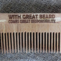 Beard comb Wooden Comb for beard Combs Gift for dad Gift for him Wooden Comb wooden hair Comb hair Comb Idea for gift Dad gift