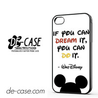 Walt Disney Quote DEAL-11807 Apple Phonecase Cover For Iphone 4 / Iphone 4S