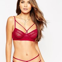 ASOS Patsy Fishnet Lace Caged Underwire Bra