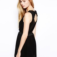 Lovestruck Beverley Bow Back Smock Dress - Black