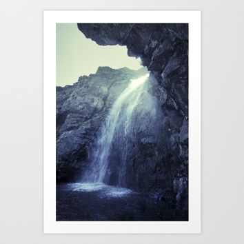 """""""At the mountains"""" Waterfalls... Art Print by Guido Montañés"""