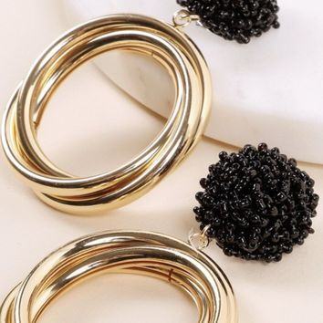 Round Seed Beed Earring