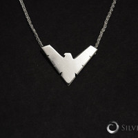 Nightwing, Nickel Free, Sterling Silver Pendant