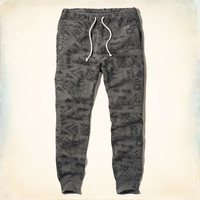 Hollister Pattern Fleece Jogger Pants