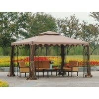 Sunjoy Big Lots 10x12 Gazebo Replacement Canopy Fabric
