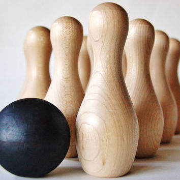 Ten Pin Bowling Game- Wooden Toy Set
