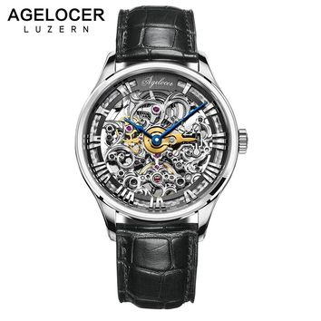 AGELOCER Men's Swiss Made Luxurious Skeleton Watch