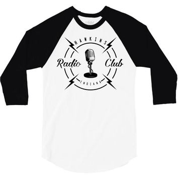 radio club 3/4 Sleeve Shirt