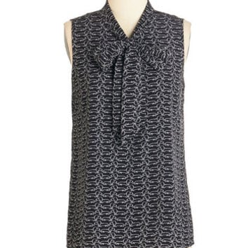 ModCloth Critters Mid-length Sleeveless Business Trip Bliss Top in Dachshund