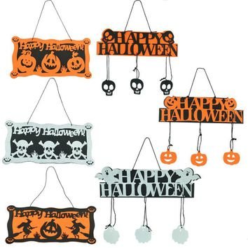 New Halloween Ball Hanging Tag Ghost Festival Pumpkin Hanging Skeleton Skull Pendant House Scene Dressed Up Happy Accessories