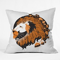 Lucie Rice Lionel Leo Throw Pillow