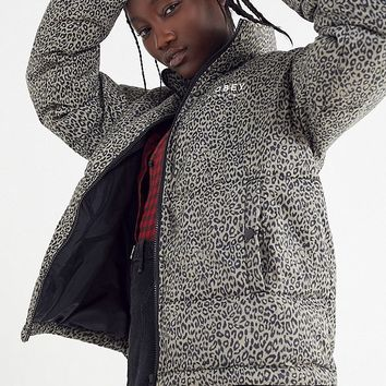 OBEY Ruby Leopard Print Puffer Jacket | Urban Outfitters
