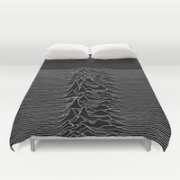 Unknown Pleasures Duvet Cover by Alisa Galitsyna