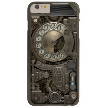 Steampunk Rotary Metal Dial Phone. Barely There iPhone 6 Plus Case