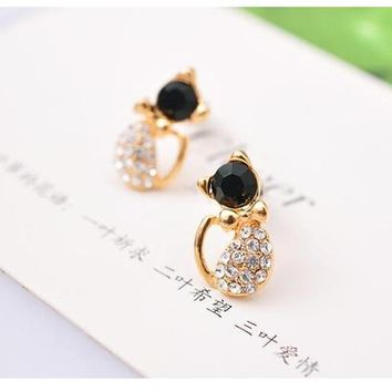 Cute Kitty Stud Earrings For Women Wedding Earings Girl Jewelry