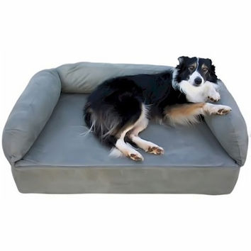 Snoozer Pet Dog Cat Puppy Indoor Comfortable Soft Quilted Luxury Memory Foam Sofa Sleeping Bed Large Buckskin