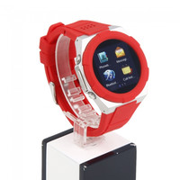 A6 1.54 Quadband 1.3 Mega Pixels 240 x 240 Pixels Display Waterproof Smart Watch Cellphone Red - Default