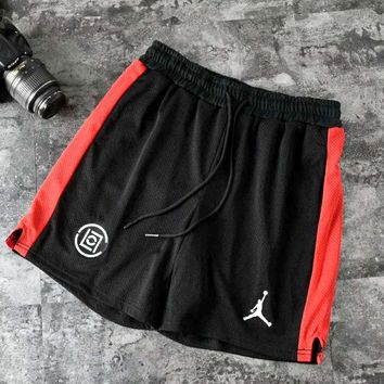 ClOT x Air Jordan co-branded terracotta mesh basketball shorts Black