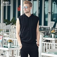 Summer Vest solid cotton T-shirt men hoodies Tank Top for Men base Vest Casual Fashion Tees Tops o Neck for men