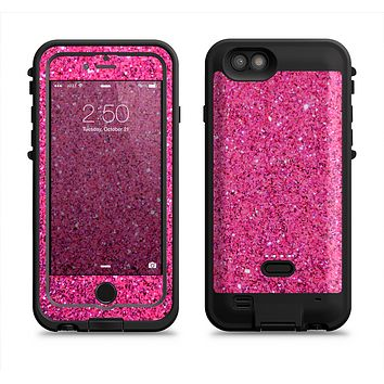 The Pink Sparkly Glitter Ultra Metallic Apple iPhone 6/6s LifeProof Fre POWER Case Skin Set