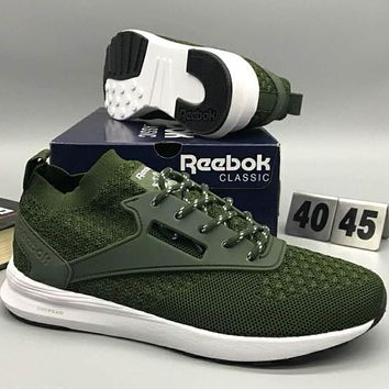 REEBOK popcorn comfort, fashion, shock absorption, sports shoes L-CSXY Dark green