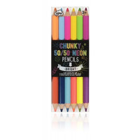 50/50 Chunky Neon Colored Pencils