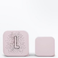 2 Pack Shell Pink L Initial Lunch Box | New Look