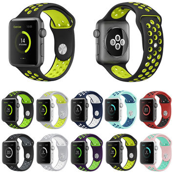 Silicone Sport Band Buckle for Apple Watch in Multiple Colors Series 1 and 2