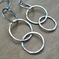Fine Silver Hoop Earrings on Luulla