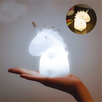 Fashion Unicorn Ambient LED Night Light Desk Lamp Baby Kids Unicorn Lights Bedroom Home Decor Gift